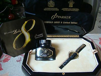 "Parker Duofold Lucky 8 Limited Edition Fountain Pen ""new"""