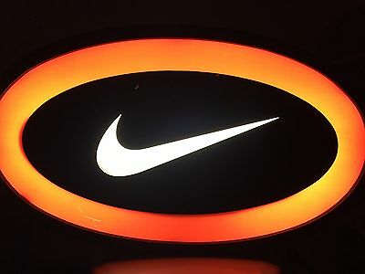Nike Lighted Swoosh Sign For Shoe Store Display. Rare