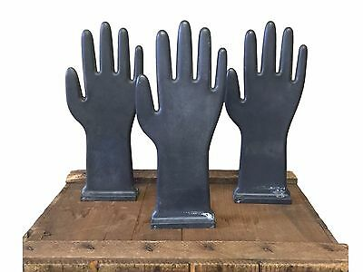 """Estate Find Industrial Glove Hand Mold Lot of 3 Almost 12"""" Tall Jewelry Display"""