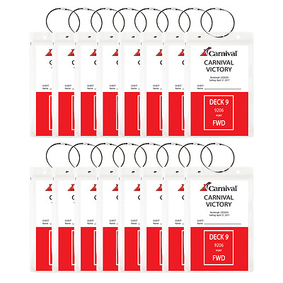 (16 PACK) - HEAVY DUTY Cruise Luggage Tag Holders, Document Holders *US SELLER**
