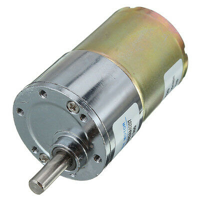 zhengk 12V DC 300 RPM 37GB High Torque Gearbox Electric Motor 37mm Diameter X3P5