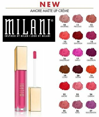 Milani Amore Matte Lip Creme ~ Choose from 16 Shades ~ New & Unsealed