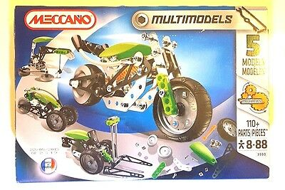 Meccano Multimodels 3550 - 5 models - Brand new, sealed box
