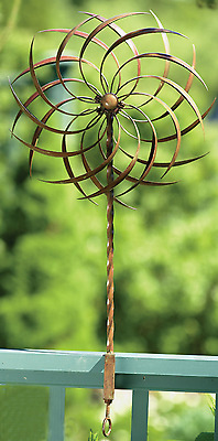 New Garden Wind Spinner Windmill Yard Decor Kinetic Art Sculpture Outdoor Stake