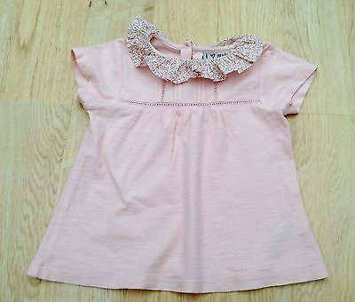Baby Girl's Next Peach Top. Size 12-18 M