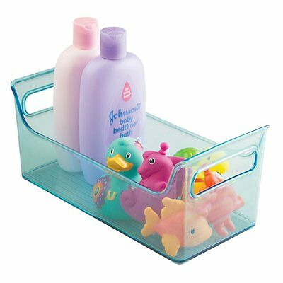 mDesign Baby and Toddler Portable Closet or Nursery Organizer Storage Bin - Aqua