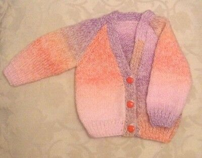 Hand Knitted Baby Girls Cardigan 0-3 Months