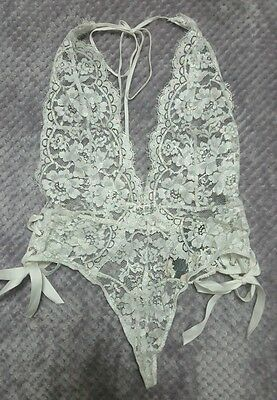 Victoria's Secret Designer Collection Embroidered  Lace  Shimmer Teddy size S