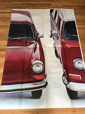 Vintage 1972 Volkswagen VW Bug Beetle Bus Ghia Dealership Litho Billboard Poster