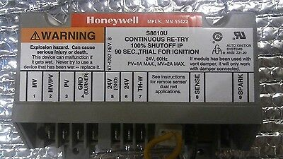HONEYWELL S8610U ignition control HVAC working great tested~