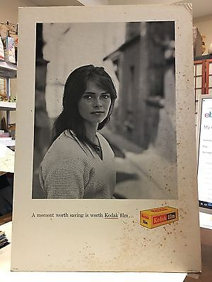 KODAK BILLBOARD ADVERTISNG Sign Photo Type Large Carboard Kodak Film Poster
