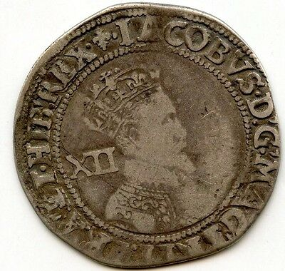 Great Britain King James I Shilling AD 1603 - 1625 Ancient Coin