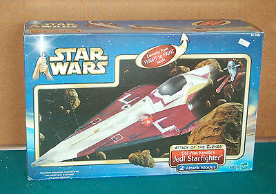 Star Wars ( Obi Wan Kenobi's ) Jedi Starfighter Attack of the Clones Hasbro