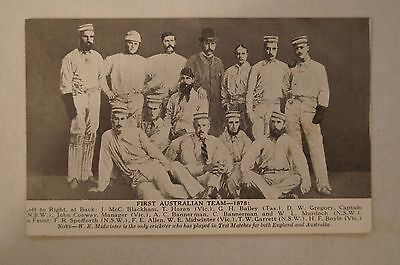 Vintage - Collectable - First Australian Team - 1878 - Cricket - Postcard.