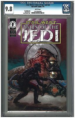STAR WARS: TALES OF THE JEDI #4 CGC 9.8 (1/94) Dark Horse Comics white pages