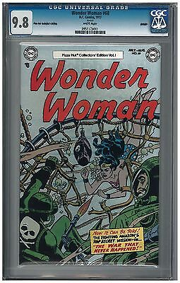 Wonder Woman #60 CGC 9.8 (1977) DC Comics Pizza Hut Reprint white pages