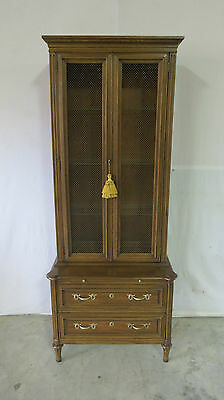 Henredon Hutch Cupboard China Cabinet Regency Bookcase