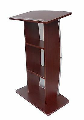 Wood Acrylic Church Podium Event Pulpit School Lectern Curved Conference Podium
