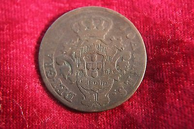 Portugal 10 Reis 1813  Old Coin F