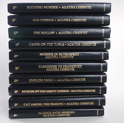 Agatha Christie Mystery Collection Set Lot 61 Books Bantam 1St Print Leatherette