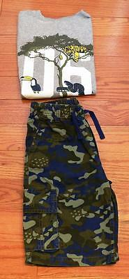 Gymboree Boys Jungle Green Camo T-Shirt and Shorts size 12