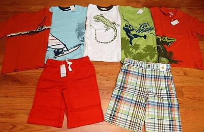 Gymboree Boys Lot of Outdoor Adventure Shirts and Shorts size 12, Most NWT