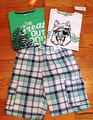 Gymboree Lot of Boys Shirts and Shorts-Great Outdoors, Ruff Seas size 12 All NWT