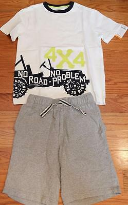 Gymboree Boys 4x4 Truck T-Shirt and Shorts size 12