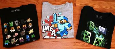 Lot Minecraft T-shirts size L for Boy or Girl