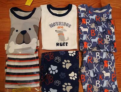 Lot of 3 Gymboree Boys Gymmies PJs  With Dogs- two are NWT size 12