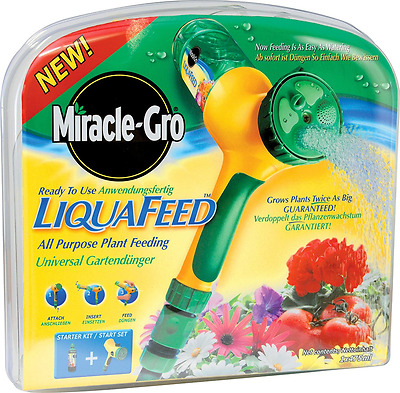 Miracle-Gro LiquaFeed All Purpose Plant Food Starter Kit Grows Bigger Plants New