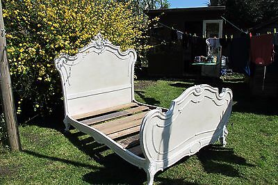Original Antique French Bed Frame Stunning Painted Double