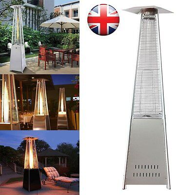 13KW Flames Patio Heater Stainless Steel Pyramid Gas Propane For Outdoor Garden