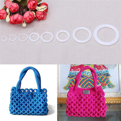 DIY Crochet Ring Circle Hook Craft Tool Accessory for Handbag Car Seat Decor