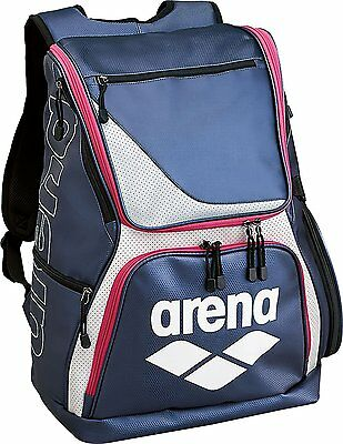 ARENA Suima's Enamel Backpack 30L ARN-6431 NVY Navy × Pink From Japan F/S