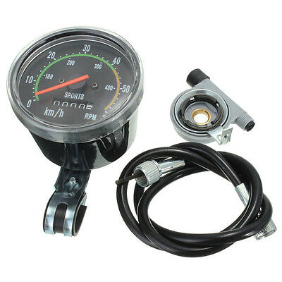 Mechanical Odometer Speedometer Resettable RPM For Bicycle Bike Motorcycle Q2W3