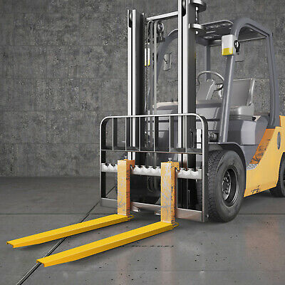 """72"""" x 6"""" Forklift Pallet Fork Extensions Pair Retaining Lift Truck Heavy Duty"""