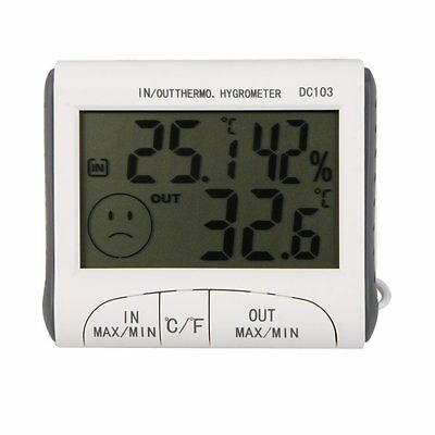 LCD Digital Thermometer Hygrometer Moisture Meter and Wired Temperature wit G7G2