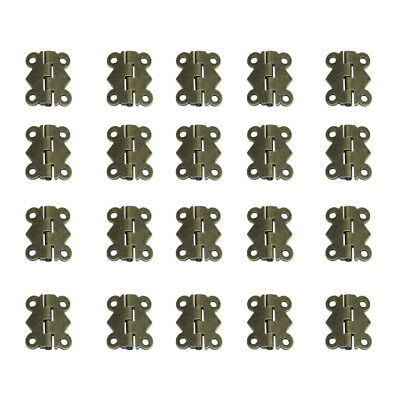 20Pcs Butterfly Chrome Plated Butt Door Cabinet Hinges with Screws Bronze