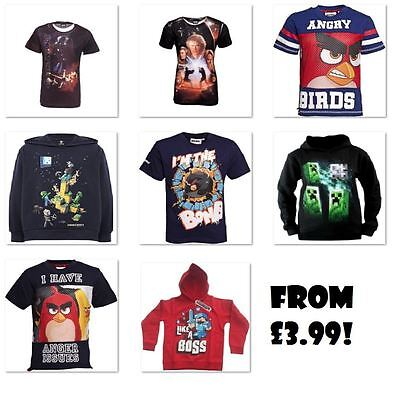 Official MINECRAFT STAR WARS ANGRY BIRDS Kids T-Shirts Shirt CLEARANCE Last Few