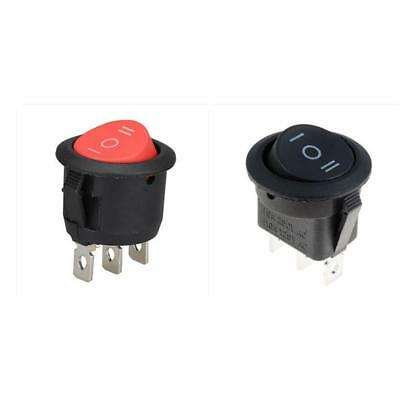 Pin Switch Rocker Switch Round 3 Way Switch Black and Red Round Plastic