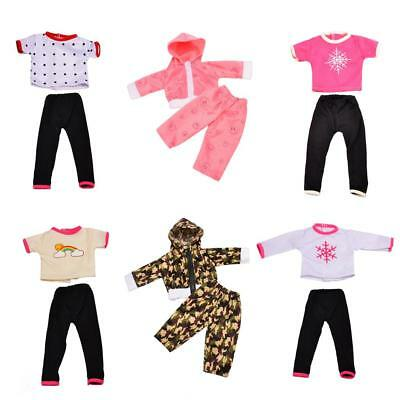 Cute T-shirt Top & Pants Clothes for 18 inch Our Generation American Girl Doll