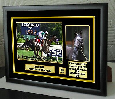 ARROGATE Breeders Cup Travers Stakes Limited Edition Framed Canvas Print Signed