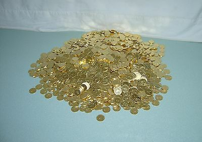 300 Beautiful Golden Slot Machine Tokens -- Standard .984 Size -- Newly Minted