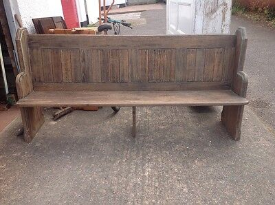 Church Pew  Solid Oak