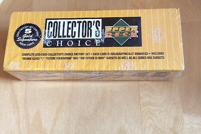 1994 Upper Deck Collectors Choice Complete Set Sealed With 5 Gold Cards