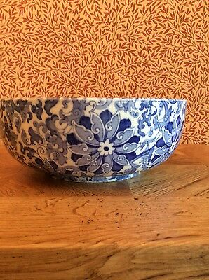 antique blue and white bowl woods and sons