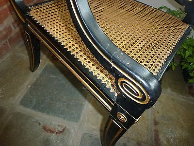 Antique Regency Gold and Ebony Beregere Chair