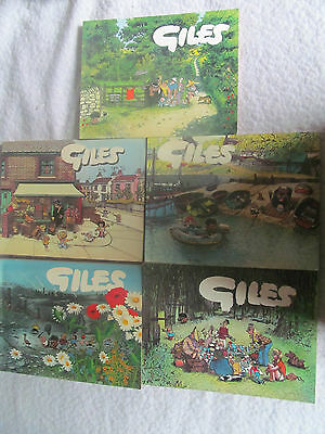 5 GILES ANNUALS 25th 27th 28th 29th 33rd SERIES COLLECTORS ITEMS