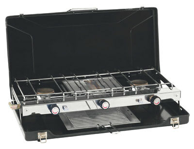 Outwell Appetizer Cooker 3-Burner Stove w/Grill